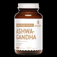 MOMENDIL OTSAS!  Adaptogeensete taimede hulka liigitatud Ashwagandha taim soodustab tasakaalu kehas, toetab head und ja lõõgastunud olekut. Ashwagandha toetab neuroloogilise, reproduktiivse, endokriinse süsteemi normaalset talitlust, aitab kaasa energia tootmisele ja eluea pikenemisele.