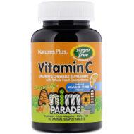 Nature's Plus suhkruvaba bioflavonoididega C-vitamiini imemistablett on mõnusalt apelsinimaitseline. Loomakujulised imemistabletid on magustatud ksülitooliga, antibakteriaalse loodusliku suhkruga, mis pärsib patogeensete bakterite kasvu nii suus kui soolestikus.  Kasutamine: 2 imemistabletti päevas.  Purgis 90 tbl, soovituslik päevane kogus (2tbl ) sisaldab 250 mg C-vitamiini.